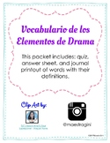 Elementos del Drama - Elements of Drama - Bilingual - Dual Language - Spanish