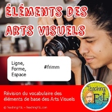 Éléments des arts visuels - French art vocabulary review f