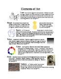 Elements fo Art & Principles of Design Handout