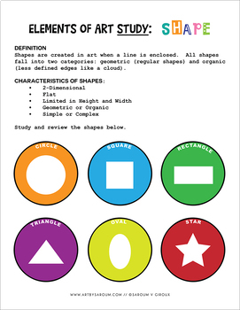 Elements of Art: Shapes Study