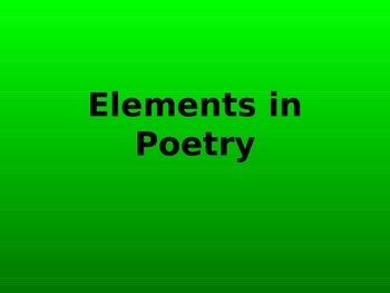 Elements in Poetry