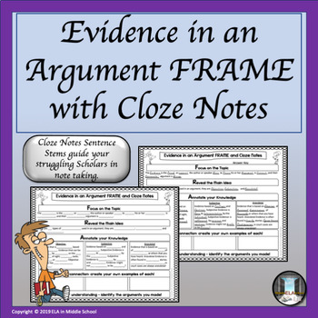 Elements in an Argument: FRAMEs, Cloze Notes and a Prezi Presentation