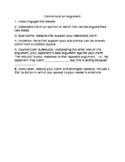 Elements of Argument Informational Sheet