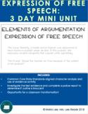 Elements of Argumentation Free Speech Mini Unit