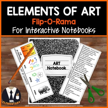 Elements of Art Vocabulary Interactive Notebook