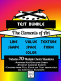 Elements of Art Assessment/Test/Exam Bundle