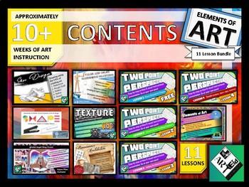 Elements of Art BUNDLE 11 Lessons 10+ WEEKS of Instruction!