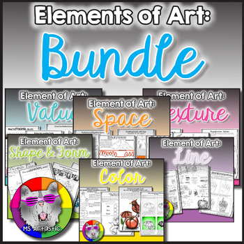 Elements of Art Bundle, 60 Art Lessons for the Year