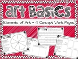 Elements of Art Basics- 4 Art Element Work Pages