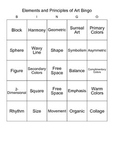 Elements of Art Bingo