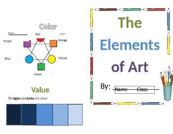 Elements of Art Booklet and Key