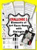 Line Elements of Art Worksheets and Art Lesson