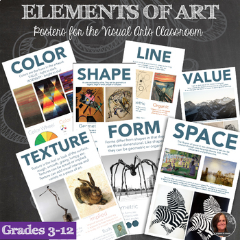 Elements of Art Posters - Printable Set - 7 Posters