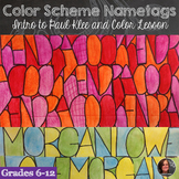 Color Schemes Name Tag - Back to School Activity