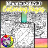 Elements of Art Coloring Pages, Zen Doodles