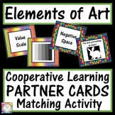 Elements of Art Cooperative Learning Partner Cards   Sort and Match Activity