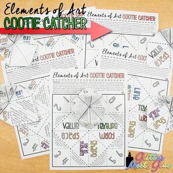 Elements of Art Cootie Catcher Game {Art Lesson Printables}