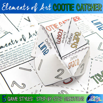 Elements of Art Cootie Catcher Game | Art Lesson Printables
