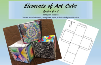 Elements of Art Cube Activity
