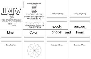 Elements of Art (Design) Foldable USA spelling