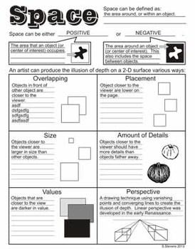 Elements of Art (Design) Handouts (Canadian colour)