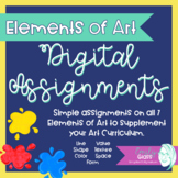 Elements of Art Digital Assignments Elementary Level