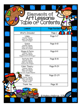 Elements of Art: Elementary Lessons
