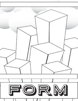 Elements of Art Form Review: Printable, Form, Label and Color it in Handout