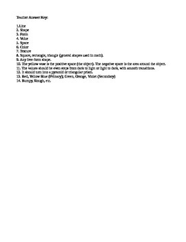 Elements of Art Formal Assessment / SGO