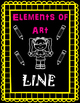 Elements of Art Handouts and Worksheets - Line - 6 Pages