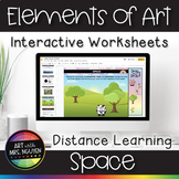 Elements of Art Interactive Google Slide Worksheets for Di