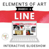 Elements of Art Interactive Google Slides: Line
