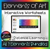 Elements of Art Interactive Google Slide Worksheets for Distance Learning Bundle