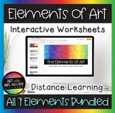Elements of Art Interactive Google Slide Worksheets for Di
