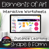 Elements of Art Interactive Worksheets for Distance Learni
