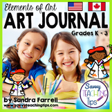 Elements of Art Journal for Primary Grades - a Differentia