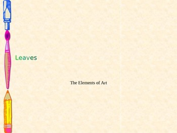 Elements of Art Leaf Preview