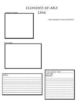 Elements of Art- Line