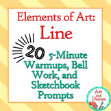 "Elements of Art ""Line"" - 20 5-Minute Bellwork, Warm-ups, a"