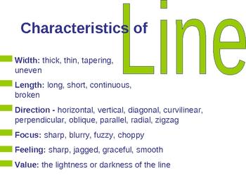 Elements of Art - Line PowerPoint