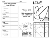 Elements of Art - Line Worksheet - Editable