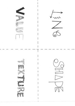 Elements of Art Mini-book/ Flashcard set