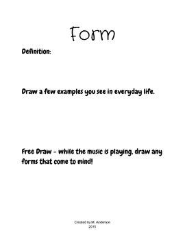 Elements of Art Notebook