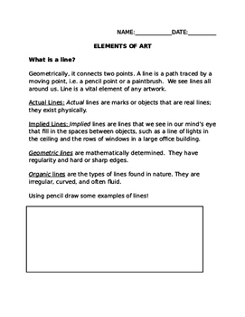 Elements of Art Packet