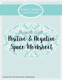 Elements of Art: Positive & Negative Space Worksheet