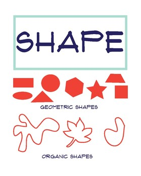 Elements of Art Poster: Shape