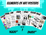Elements of Art Posters Art Classroom Visuals Set of 7 Handouts Large Posters