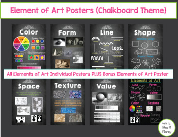 Elements of Art Posters (Chalkboard Theme)