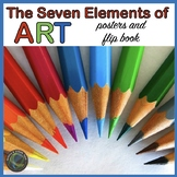 Elements of Art Posters and Flip Book for Elementary grades
