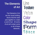 Elements of Art Power Point